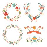 Floral Easter wreaths Stock Photo