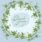 Floral eco πλαισίων στεφανιών στοκ εικόνα με δικαίωμα ελεύθερης χρήσης