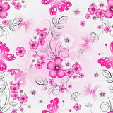 Floral effortless spring pattern Royalty Free Stock Photo