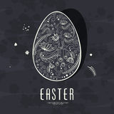Floral egg for Happy Easter celebration. Royalty Free Stock Photos