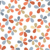 Floral eggs pattern Stock Images