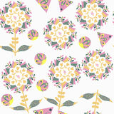 Floral elegance gentle seamless pattern and seamless pattern in Stock Image