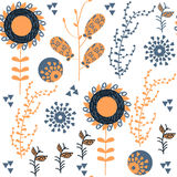 Floral elegance  seamless pattern. It is located in swatch menu,. Vector  image for design Royalty Free Stock Images