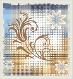 Floral element over halftone background Stock Images