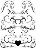 Floral Elements. Illustration of floral border elements Royalty Free Stock Images