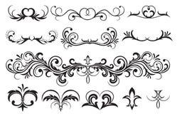 Floral elements. Ornate elements for decor, Illustration Stock Image
