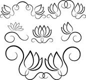 Floral elements. Elegant floral elements on the white background Royalty Free Stock Image