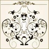 Floral elements. Design floral vector frame elements royalty free illustration
