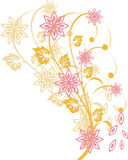 Floral elements. Vector illustration of a floral background Stock Photos