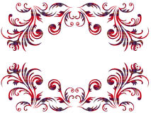 Floral elements with Celtic ornament over white Royalty Free Stock Image