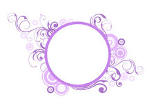 Floral elements and  circles Royalty Free Stock Photography