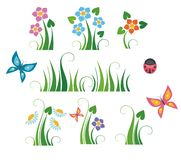 Floral elements Stock Photo