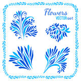 Floral elements and frames set Stock Photography