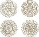 Circular mandala pattern of traditional motifs Stock Image