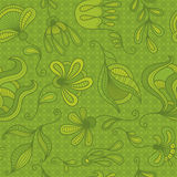Floral elements seamless background. Beautiful seamless background with floral elements. Vector illustration Royalty Free Stock Photos