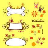 Floral elements set Royalty Free Stock Images