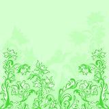 Floral elements, summer backdround. Decorative plant floral elements, summer backdround green Stock Illustration