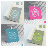 Floral Elements. Textbook, Booklet or Notebook Mockup. Royalty Free Stock Images