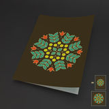 Floral Elements. Textbook, Booklet or Notebook Mockup. Orient Traditional Design. Lace Pattern. Vector Fashion Illustration Royalty Free Stock Photography