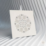 Floral Elements. Textbook, Booklet or Notebook Mockup. Orient Traditional Design. Lace Pattern. Vector Fashion Illustration Stock Photo
