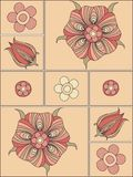 Floral elements to create a design background Royalty Free Stock Photography