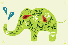 Floral elephant. Stock Photography