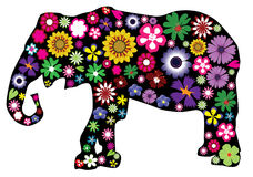 Floral elephant. Illustration of a floral elephant Royalty Free Stock Images