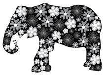 Floral elephant Stock Photo