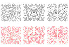 Floral embellishments Royalty Free Stock Image