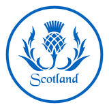 Floral emblem of Scotland, the thistle.  Royalty Free Stock Photo