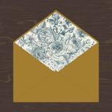Floral envelope. Stock Photo