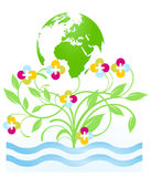 Floral environment protection. Nature conservation Stock Photos