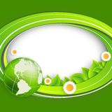 Floral environmental vector frame Stock Images