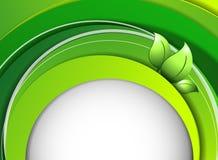Floral environmental vector frame Royalty Free Stock Image