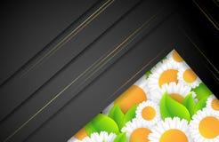 Floral environmental vector frame Stock Photo