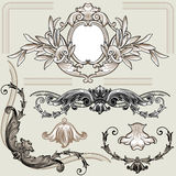 κλασικό floral σύνολο στοιχ&epsilon Στοκ Εικόνες