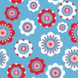 Floral estilizado del punto Fotografía de archivo libre de regalías