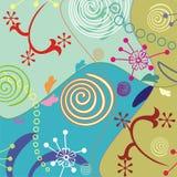 Floral et décorant le fond illustration stock