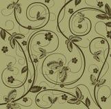 Floral et guindineau illustration de vecteur