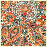 Floral ethnic design Stock Photo