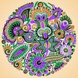 Floral ethnic design Stock Photos