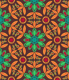 Floral ethnic fall pattern Royalty Free Stock Photography