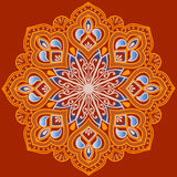 Floral ethnic mandala Royalty Free Stock Images