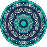 Floral ethnic mandala Stock Images