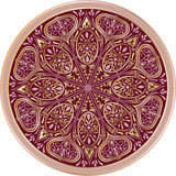 Floral ethnic mandala Stock Photo
