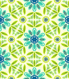 Floral ethnic spring pattern Stock Photography