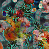 Floral exotic colorful spotted background Stock Images