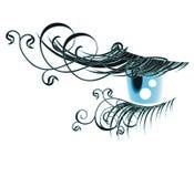 Floral eyelashes Stock Image