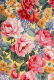 Floral Fabric 01. Shot of an antique floral fabric Royalty Free Stock Image