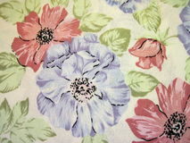 Floral fabric. Texture auitable as background Royalty Free Stock Photo
